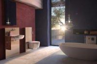 Sanitär Geberit Badezimmer Sonnenuntergang